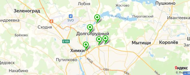 салоны бровей на карте Долгопрудного