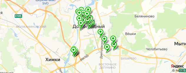 центры косметологии на карте Долгопрудного