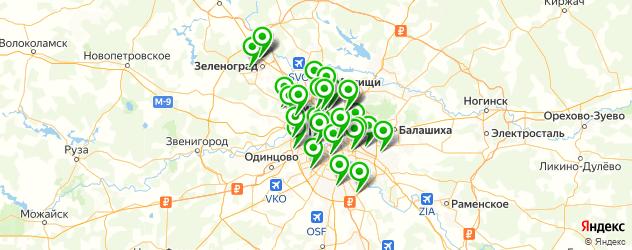 установка ГБО на карте Москвы