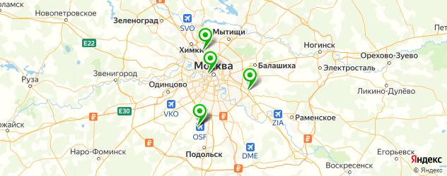 разборки спецтехники на карте Москвы