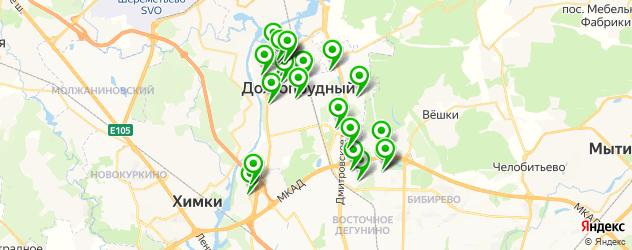 массажные салоны на карте Долгопрудного