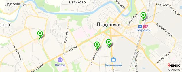 женские фитнес-клубы на карте Подольска
