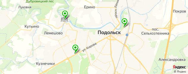 грузинские рестораны на карте Подольска