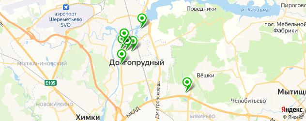 Доставка роллов на карте Долгопрудного