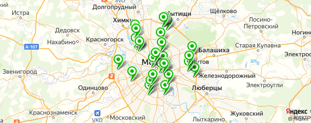 колледжи на карте Москвы