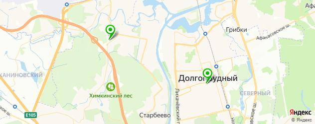 школы художественной гимнастики на карте Долгопрудного
