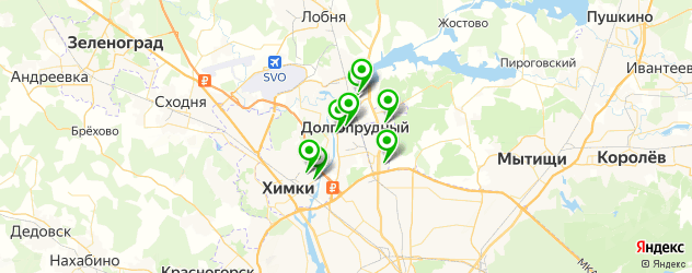 кальянные на карте Долгопрудного