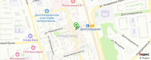 караоке-клубы на карте Долгопрудного
