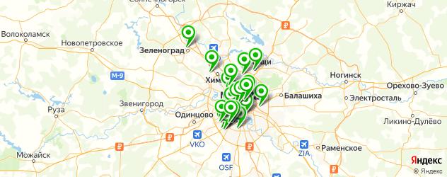 выпечка на карте Москвы