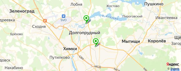 катки на карте Долгопрудного