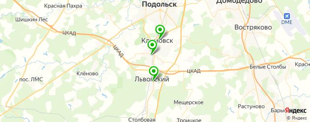 детские больницы на карте Подольска