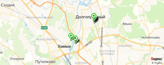 общежития на карте Долгопрудного
