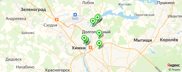 Доставка шашлыка на карте Долгопрудного
