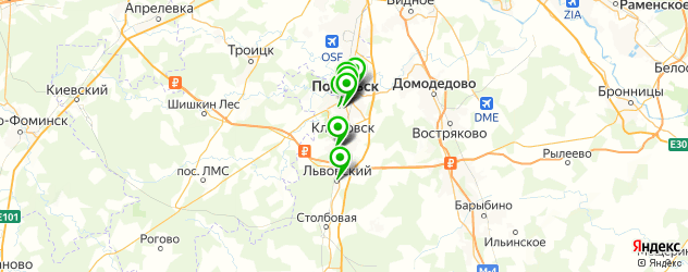 лицеи на карте Подольска