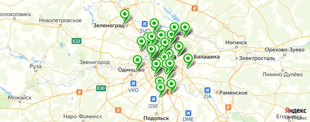 венерологические клиники на карте Москвы