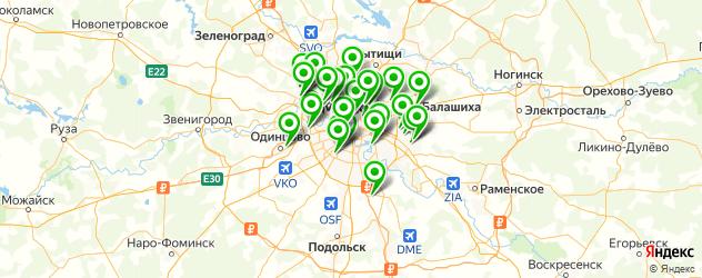 ультразвуковой лифтинг на карте Москвы