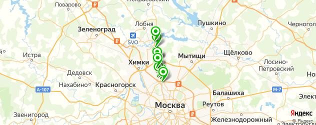ремонт рулевых реек на карте Дмитровского шоссе