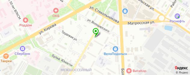 велнесы-клубы на карте Подольска