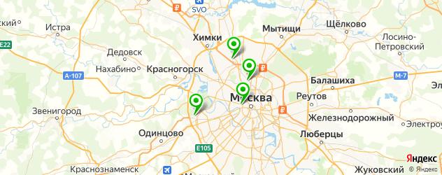разборки квадроциклов на карте Москвы