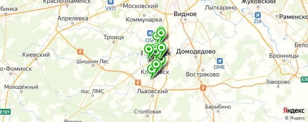 протезирование зубов на карте Подольска