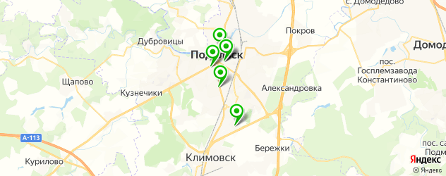 стоматологические поликлиники на карте Подольска