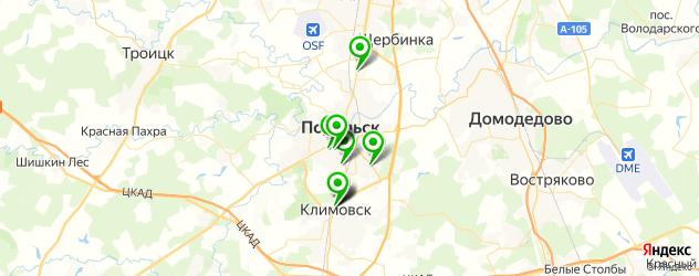 ремонт лобовых стекол на карте Подольска
