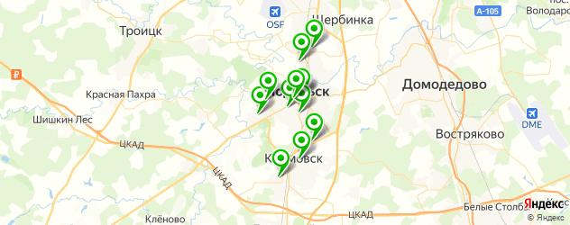 Доставка роллов на карте Подольска