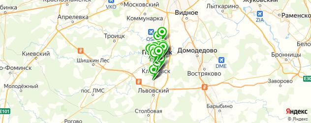 бары на карте Подольска