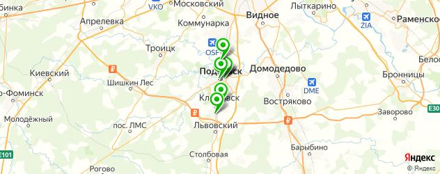 фотостудии на карте Подольска