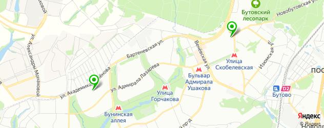 травмпункты на карте района Южное Бутово