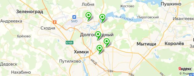 сауны на карте Долгопрудного