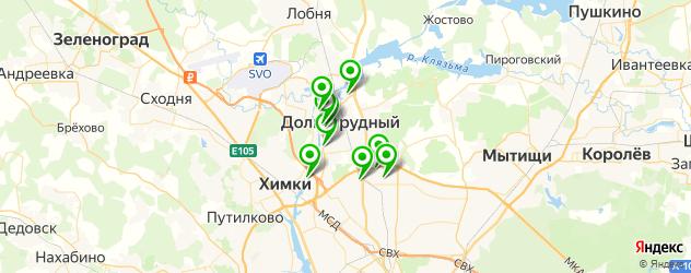 курсы на карте Долгопрудного