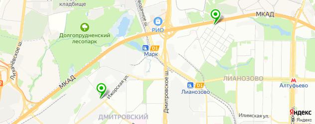 академии на карте Долгопрудного