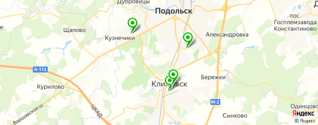 гимназии на карте Подольска