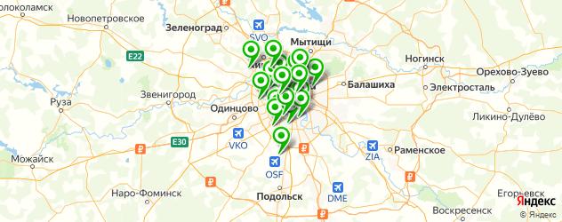 шашлык на карте Москвы