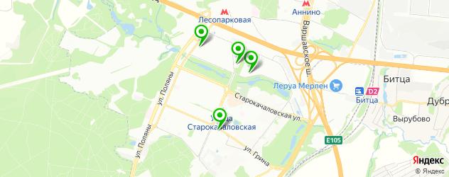 кальян на карте метро Улица Старокачаловская