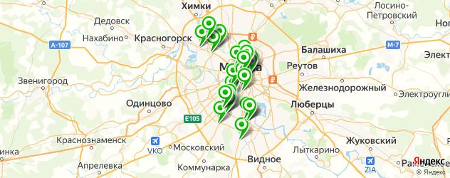 НИИ на карте Москвы