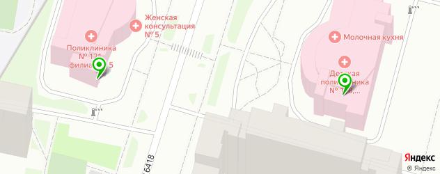 поликлиники на карте улицы Маршала Савицкого