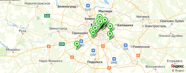 Образование и развитие на карте Москвы