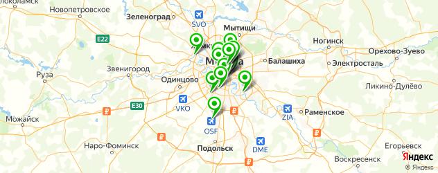 организация фуршетов на карте Москвы