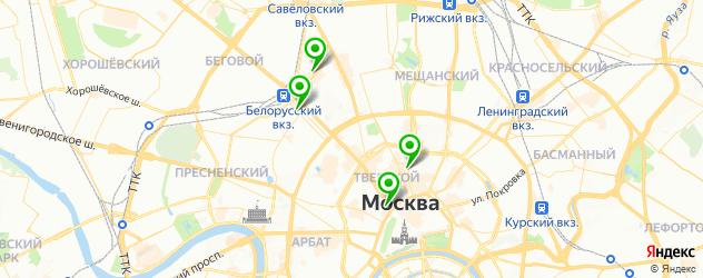 парковки на карте Тверского района