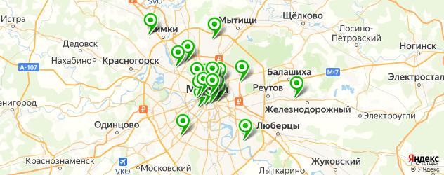 кондитерские на карте Москвы