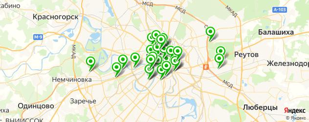 Доставка пиццы на карте Москвы