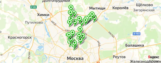 школы танцев на карте СВАО
