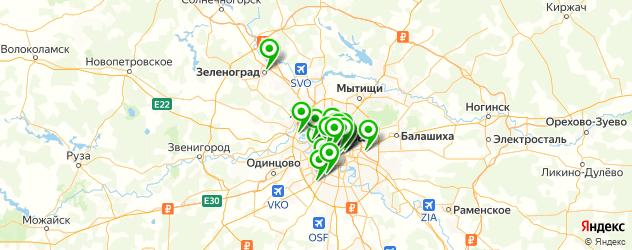 клубы-бары на карте Москвы