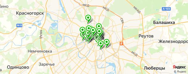 бары с танцполом на карте Москвы