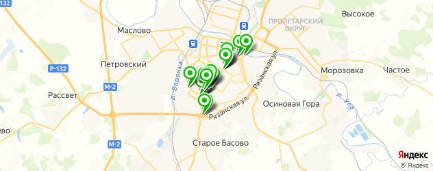 университеты на карте Тулы