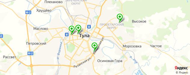 детские поликлиники на карте Тулы
