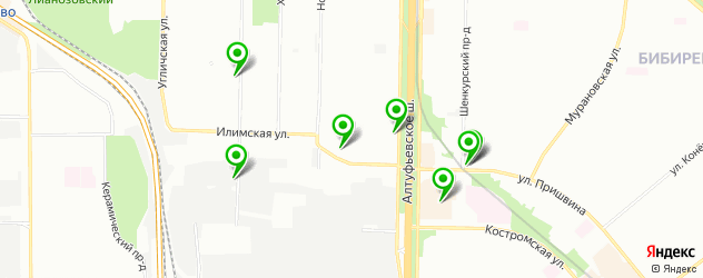 кафе на карте Илимской улицы