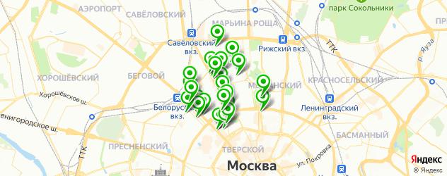 Финансы на карте метро Новослободская